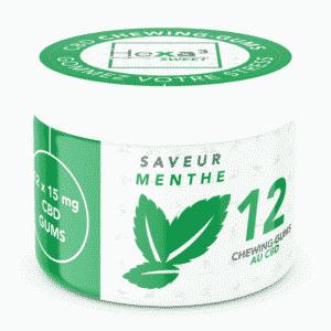 boite de chewing-gums CBD menthe Hexa3